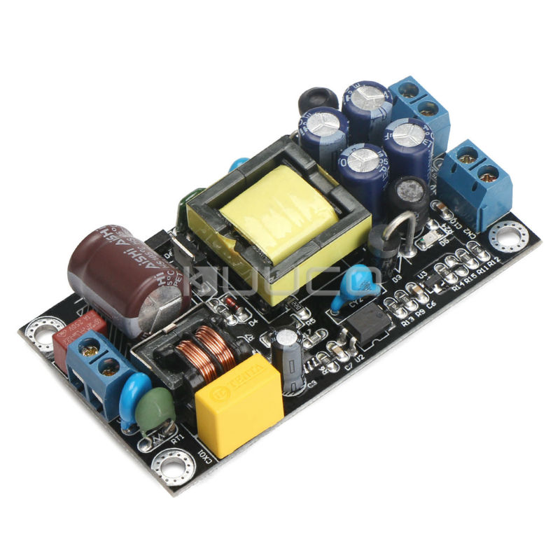 Switching Power Supply Module AC 85~264V or DC 110~370V to DC12V1A / 5V1A Dual Output Buck Voltage Regulator/Adapter/Driver 6es7284 3bd23 0xb0 em 284 3bd23 0xb0 cpu284 3r ac dc rly compatible simatic s7 200 plc module fast shipping