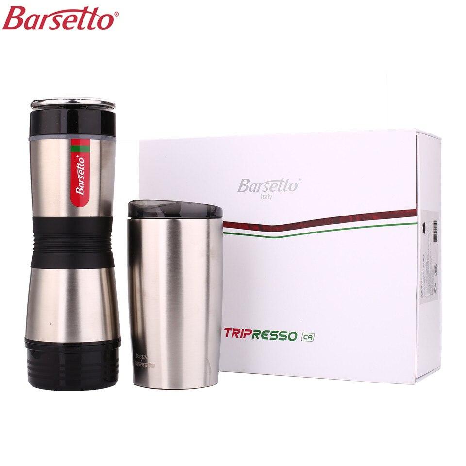 Barsetto BAH400N Portatile Manuale per Caffè Americano Caffè Mini Macchina Da Caffè A Mano Pressione Per Capsule di Caffè Caffè In Polvere