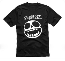 Gorillaz t shirt men funny printed short sleeve t shirts US plus size S-3XL