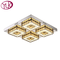 Luxury Modern Crystal Ceiling Light With Acrystal Lampshade Clear Ceiling Lamp For Living Room Bedroom Lamparas