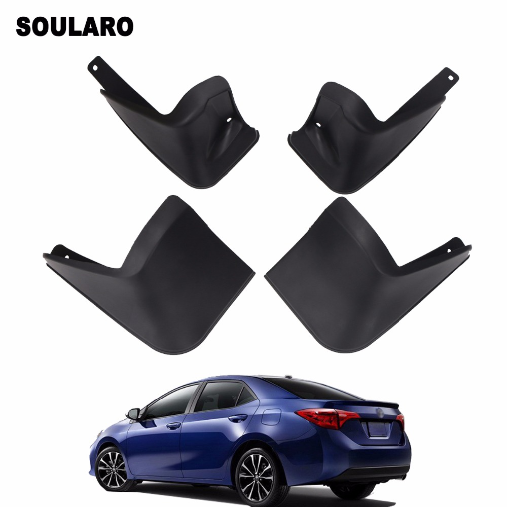4 PCS FRONT /& REAR SPLASH GUARD MUD FLAPS FOR 2014 2015 2016 2017 TOYOTA COROLLA