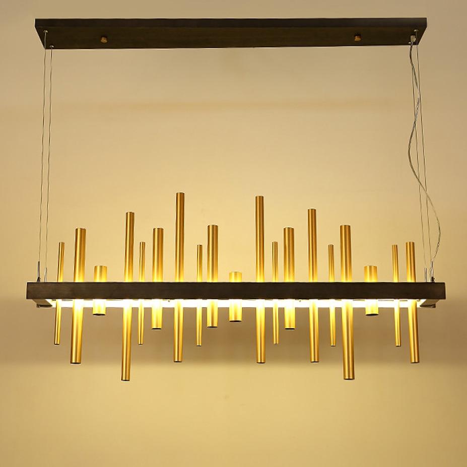 LED Postmodern Nordic Iron Golden Tube Designer LED Lamp LED Light.Pendant Lights.Pendant Lamp.Pendant light For Dinning Room|design light|light design|light for - title=