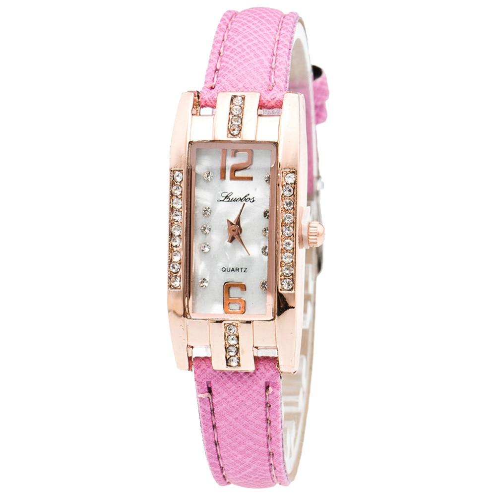 Watches wome Fashion Womens Pointer Quartz Wrist Watch Quartz Dial Wrist Watch Relojes Mujer Women Clock D12