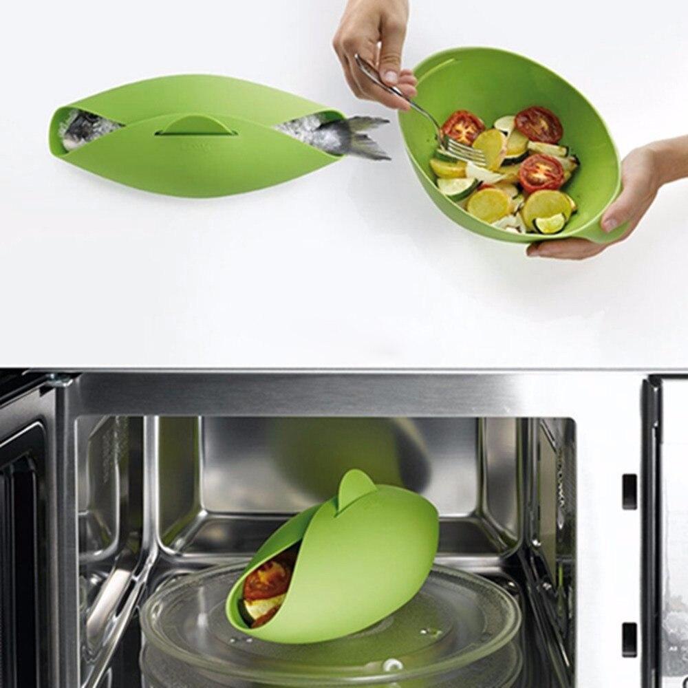 grande piroscafo silicone forno a microonde a vapore pesce forno bollitore bracconiere cooker food ciotola di
