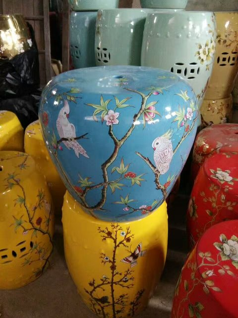 Jingdezhen Porcelain Garden Stool Ceramic Stool For Dressing Table Drum  Chinese Chinese Antique Garden Stools