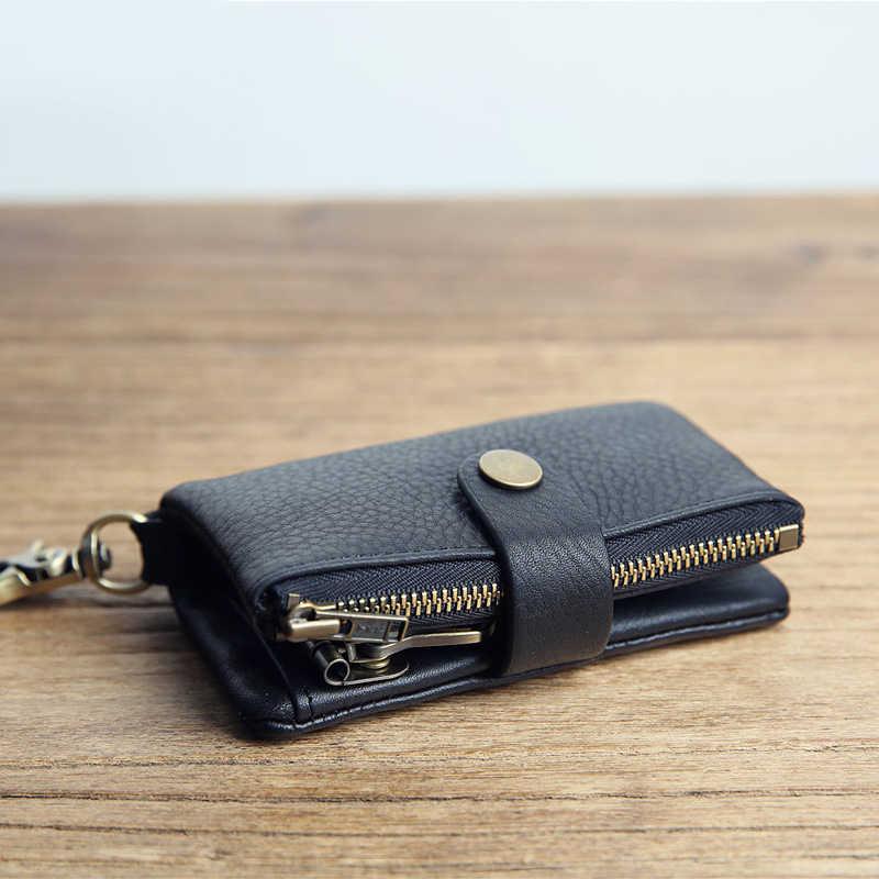 SIMLINE кожаный бумажник ключа мультифункциональная, Мужская ключа автомобиля кошельки Портмоне держатель для карт сумка Чехол Организатор ключей экономки
