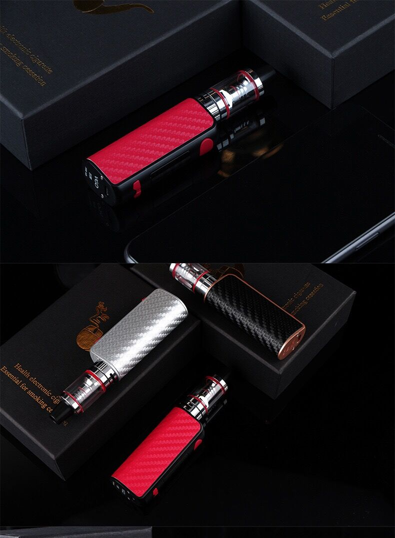 NEW 80w electronic cigarette mod box kit 2.5ml tank 0.3ohm smoke vape pen hookah mini e-cigarettes vaporizer e sigara vaper
