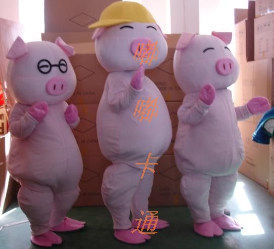 Mc Pig Mascot Costume Pink Cartoon Character Cosply Carnival Anime Cosplay Kits Mascotte