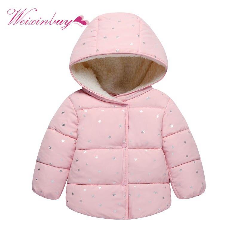 127e5c65a48 Kids Girls Boys Down Jacket Fashion Winter Coat Children Outerwear Cute Dot  baby Warm Coat Clothes1-5 years