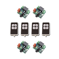 New AC220V Mini RF Wireless Remote Control Switch 4pcsTransmitter 1CH Relay Switches With 4pcs Receiver 315