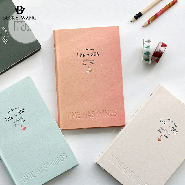 BW Light Color Mu 365 Day Plan Note of Hand Accounting Hardcover ...
