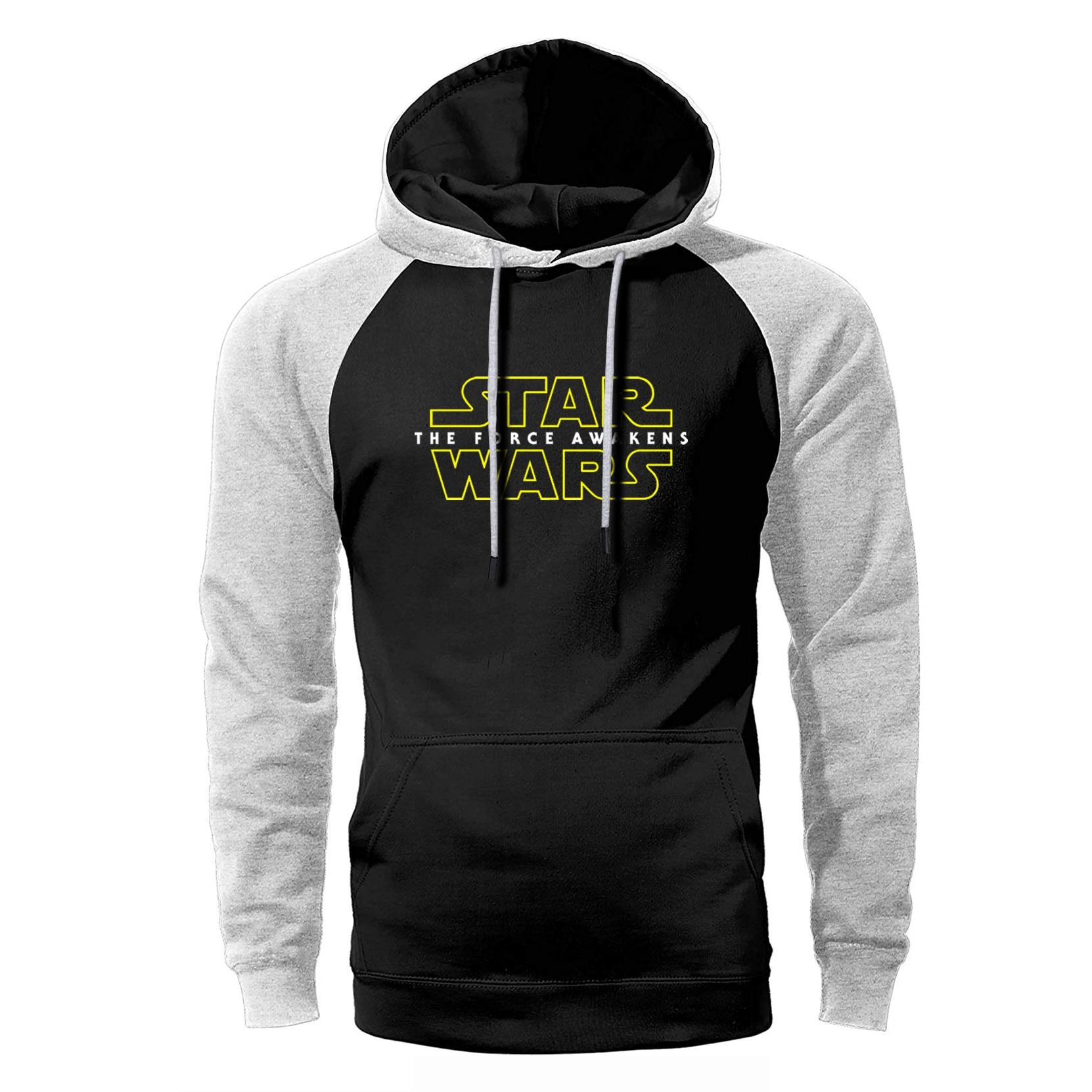 Gedisciplineerd Star Wars Force Wekt Hoodie Mannen Science Fiction Raglan Streetwear Sweatshirts 2019 Lente Herfst Fleece Warm Losse Sportkleding