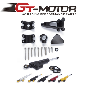 GT Motor - Motorcycle CNC Damper Steering StabilizerLinear Reversed Safety Control+Bracket For HONDA CBR600 F4I 2001-2007