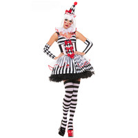 New Female Halloween Costume Role Playing Uniform Queen Circus Clown Outfit Exports Games Costume Circus Disfraces