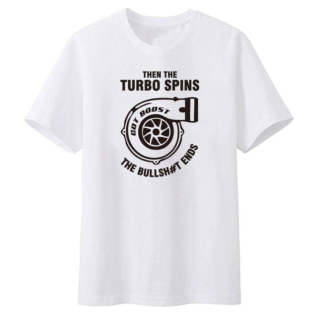 e6d33977f34b7 Summer 2018 Mens Cool O Neck T Shirt Turbocharger Tee Shirt