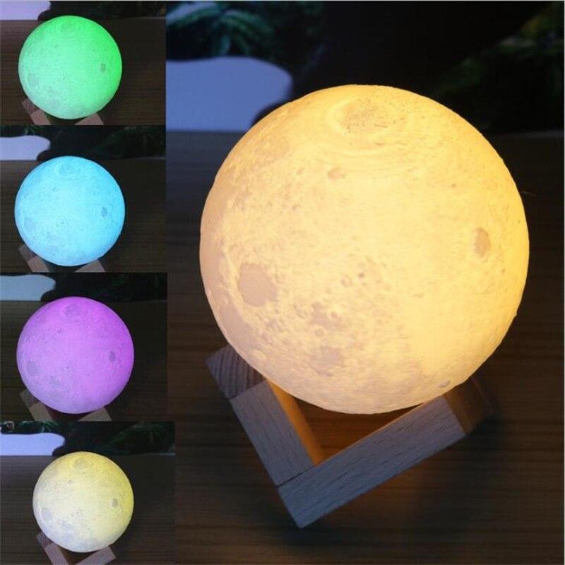 3D Moon Night Light Indoor Lighting Rechargeable USB Moonlight Table Desk Lamp Magical Birthday Valentines Gift
