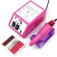 Taladro de uñas eléctrico de 20000RPM para manicura, removedor de cutículas de Gel, juego de brocas, máquina pulidora de pedicura, aparato para arte de uñas