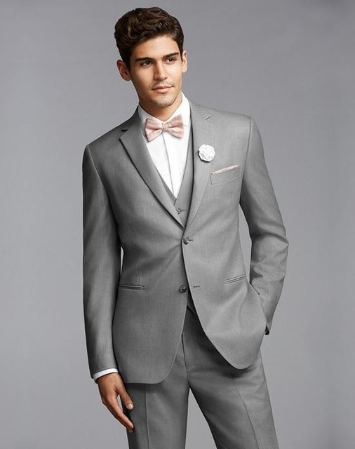Online shop light grey casual prom wear custome made mens wedding light grey casual prom wear custome made mens wedding tuxedos informal business suits jacketpantsvesttie junglespirit Images