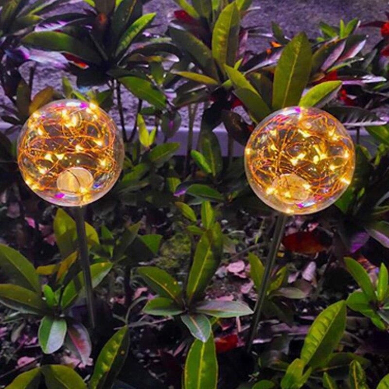 diodo emissor de luz solar do gramado solar bola plugue a prova d agua luz do
