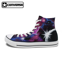 Skateboarding Shoes Sneakers Galaxy Nebula Star Converse Chuck Taylor Man Woman Shoes Original Design Unique Hand Painted Shoes