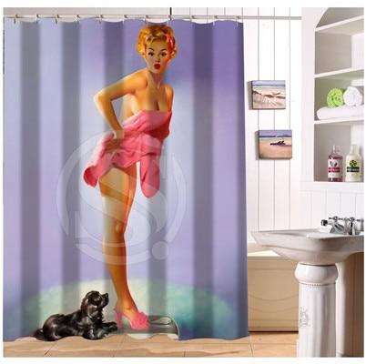 W522#23 Custom Pin up Girl Dabble Personalized 09 Modern Shower Curtain bathroom Waterproof Free Shipping #fj23