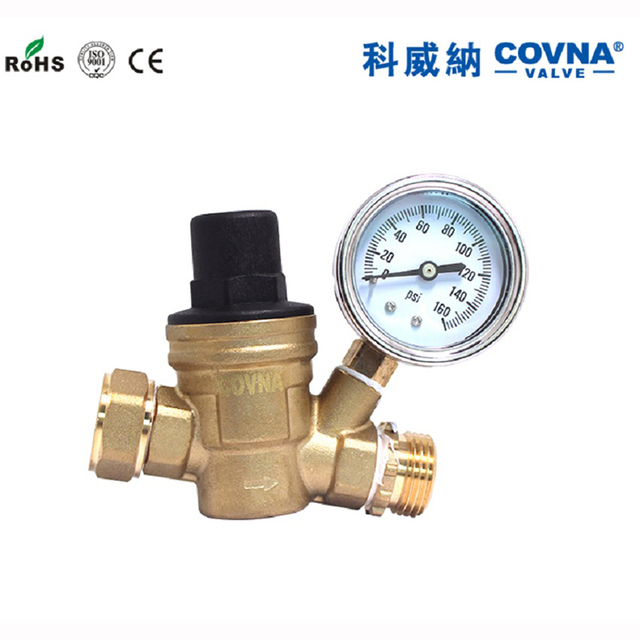US $59 0 |Water Pressure Regulator, Brass Lead free Adjustable RV Water  Pressure Reducer with Guage-in Valve from Home Improvement on  Aliexpress com |