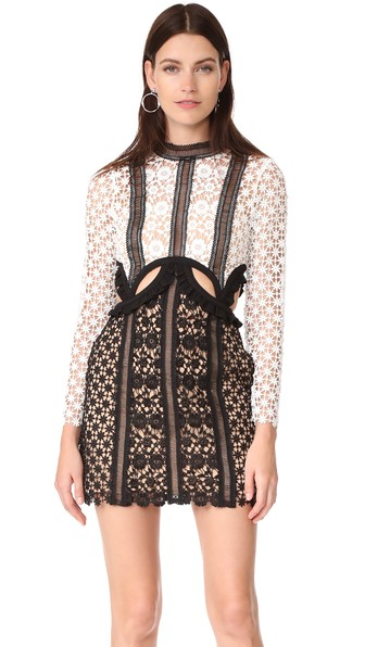 New black white white flower fashion one piece lace flower dress new black white white flower fashion one piece lace flower dress long sleeve autumn and winter party in dresses from womens clothing accessories on mightylinksfo