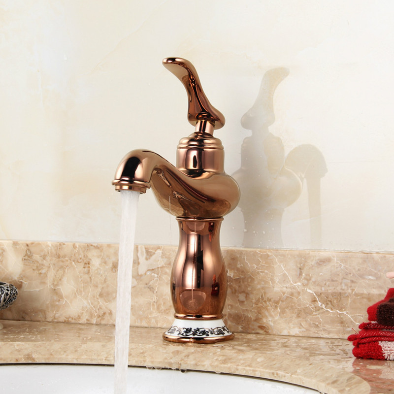 Free Shipping DONA SANITARY WARE Golden bathroom faucet with deck mounted rose golden bathroom basin sink faucets sanitary ware ffcf6588 towel bar bathroom accessories metal pendant