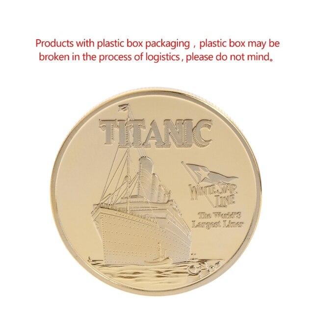 1 шт. памятная монета корабль «Титаник» инцидент коллекция Искусство Подарки BTC Биткоин сплав W215