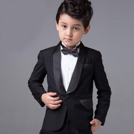 ФОТО High quality Cotton Blue Herringbone Retro gentleman style custom made Boy's suits tailor suit Blazer suits for boy 5 piece