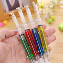 1 шт. 0,7 мм милый кавайный прозрачный шприц, креативные шариковые ручки, шариковая ручка для офиса, школы, канцелярские принадлежности