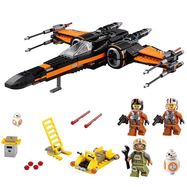 05145 05004 Star Toys Wars The 75218 75102 Star fighter First Order Poe's X Wing Fighter Wars Kid Toys Building Blocks Bricks