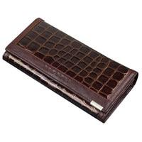 Free shipping new fashion women wallet Leather brand wallets women wholesale Crocodile design purse