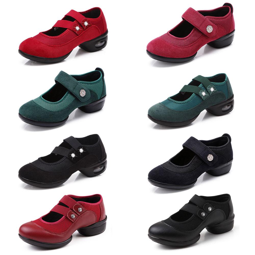 Zapatillas de mujer zapatos de baile de Jazz Hip Hop doble zapatos cinturón  Salsa plataforma de mujer zapatos de baile damas moderno deportes zapatos  de ... 9e568196bee