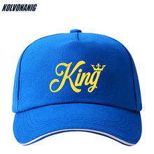 Hot Sale KING QUEEN Letter Printed Baseball Cap Lovers Adjustable Snapback Sun Caps Hip Hop Women Men Outdoors