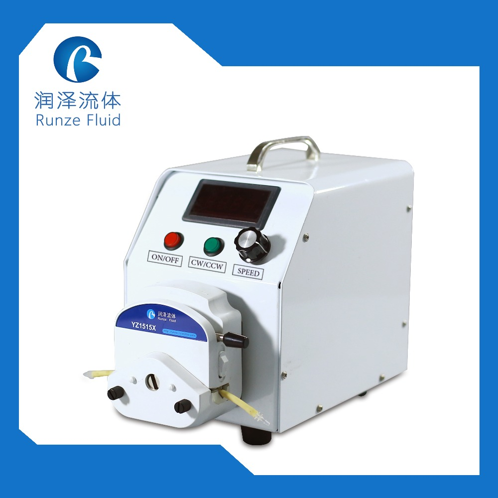 LED screen peristaltic pump display current speed with 57 stepper motor and speed control