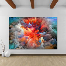 Abstract Colorful Clouds Wall Picture