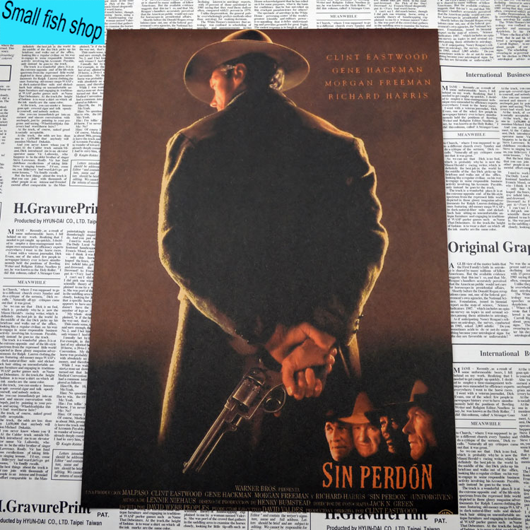 Unforgiven Clint Eastwood Movie Poster Home Furnishing