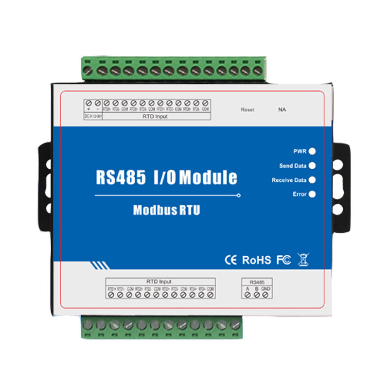 Modbus Slave RTD Remote I/O Module Data Acquisition 8 RTD Inputs 12~36VDC With Anti-reverse Protection M340