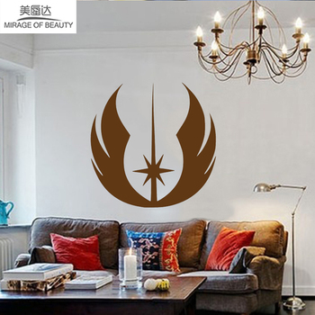 Animated Films And Television Works Star Wars Jedi Logo Car Sticker For All Wall Car Side Smooth Surface Vinyl Decal