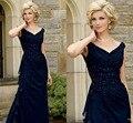 2016 venda Quente Simples Vestido Sem Mangas Chiffon Bainha Coluna Vestido Frisado Fold Mãe dos Vestidos de Noiva Até O Chão