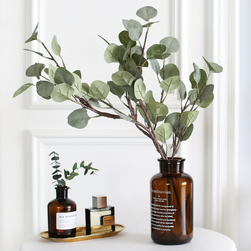 Fake Eucalyptus Home Garden Decoration Eucalyptus Plastic Artificial Branches Silk Artificial Plant Fake Greenery Plants