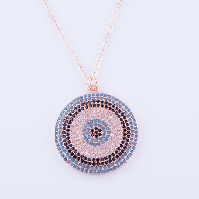 Ali moda dropshipping micro pave natural stone zircon greek evil eye ali moda dropshipping micro pave natural stone zircon greek evil eye round pendants with gold chains audiocablefo