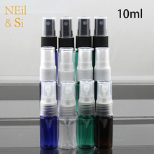 10ml Plastic Perfume Spray Bottle Refillable Cosmetic Water Sprayer Container Makeup Women Atomizers All Colors