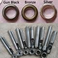 (20 Pcs Metal Eyelets + Tools) Bronze, Silver Grommets Eyelet 20mm, 17mm, 14mm, 12mm, 10mm, 8mm, 6mm, 5mm