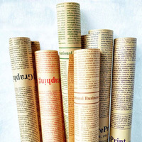 48pcs Lot 52 72cm English Newspaper Retro Letters Printing Flowers Wrapping Paper Packing Material Kraft Paper
