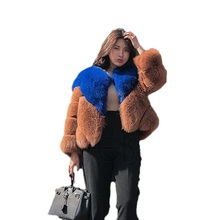 Fur coat new 2018 fashion wiman faux fur plus size imitation fox grass mink fight spell women