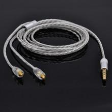 Fácil X4 Único Plateado Cable Del Auricular Cable de Actualización Para Shure SE425 SE315 SE215 UE900 W40 HD598 Auriculares Cable de Audio
