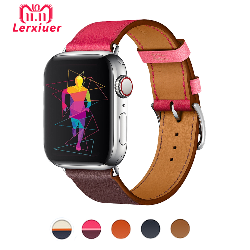 Lederband für apple watch Hermes einzelnen tour band 4 44mm 40mm 42mm 38mm handgelenk armband gürtel iwatch serie 4/3/2/1 armband