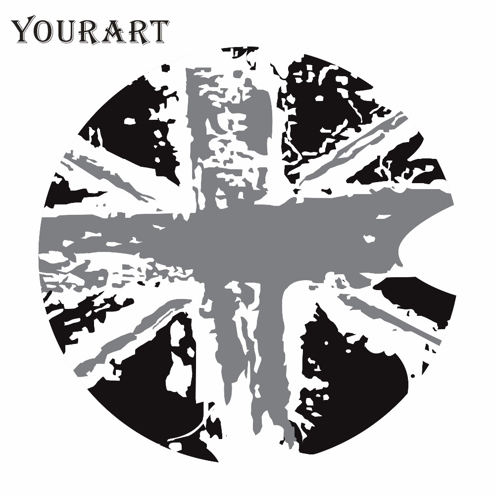 Yourart 17CM Vintage Flag Fuel Tank Vinyl Decal Stickers Biltillbehör Styling För Mini Cooper Countryman R50 R52 R58 R56 F56